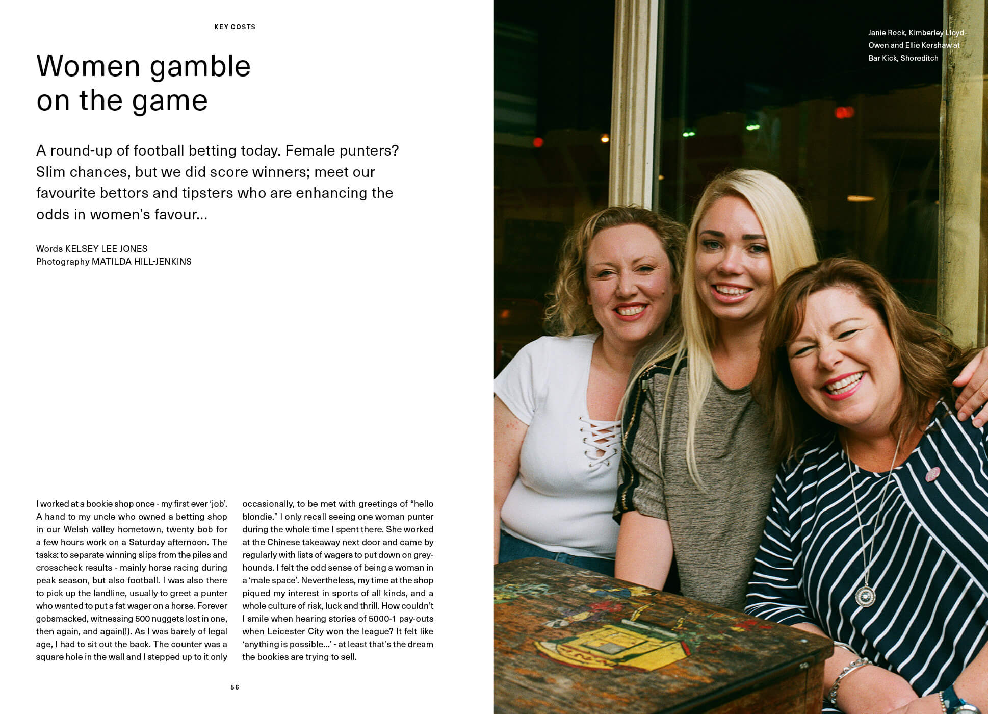 First page of Women gamble on the game SEASON interview