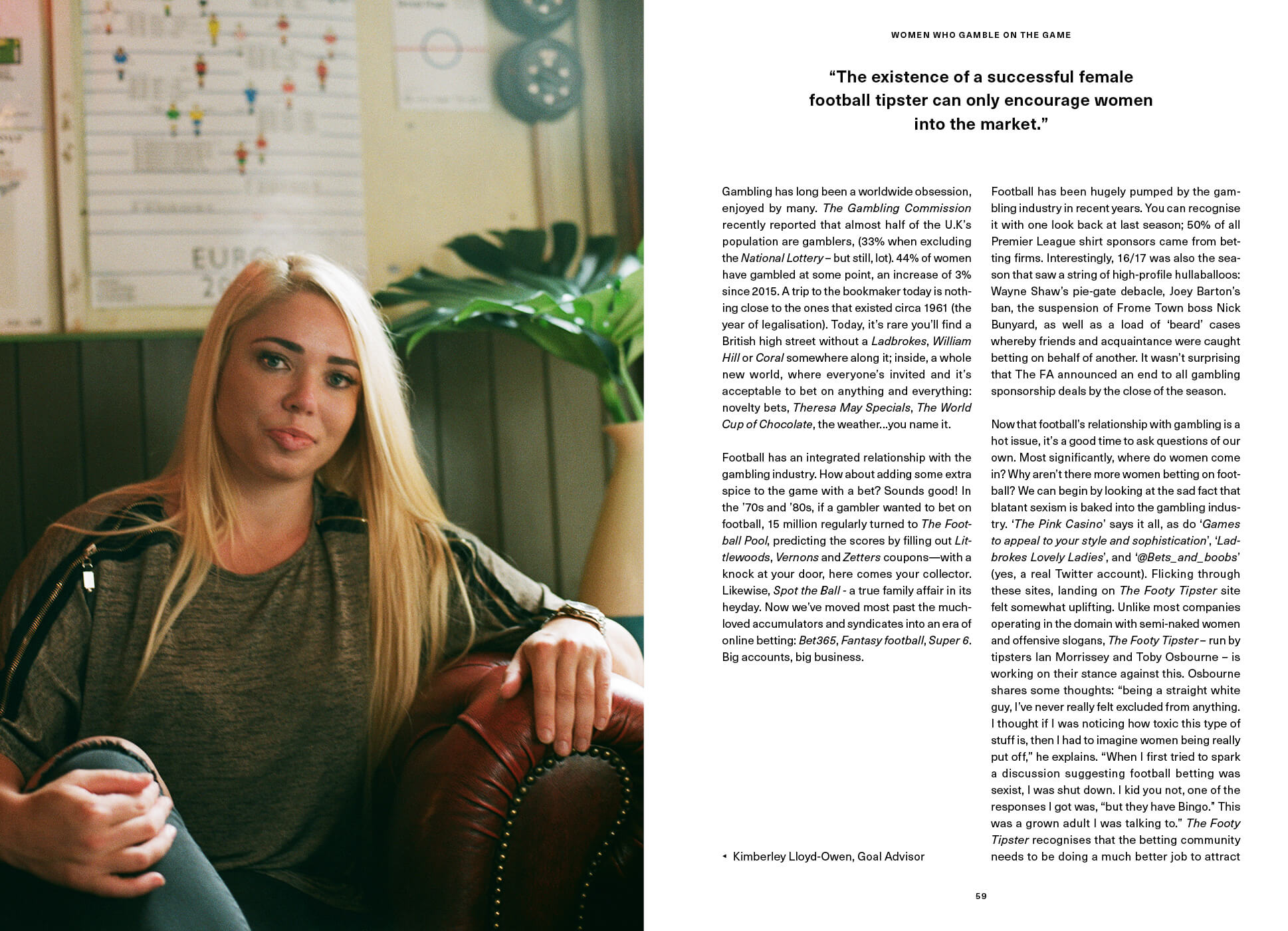 Second page of Women gamble on the game SEASON interview