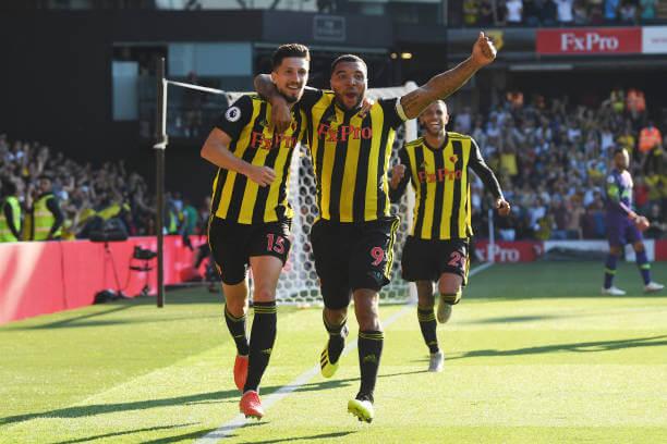 Watford celebrating a goal