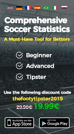 Ad. Comprehensive soccer statistics, a must have tool for bettors.